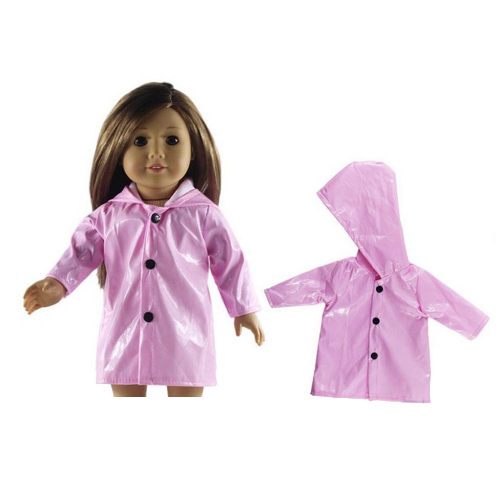 Candy Color Raincoat Kleidung für AG American Doll 18 Zoll Puppenkleidung Accs