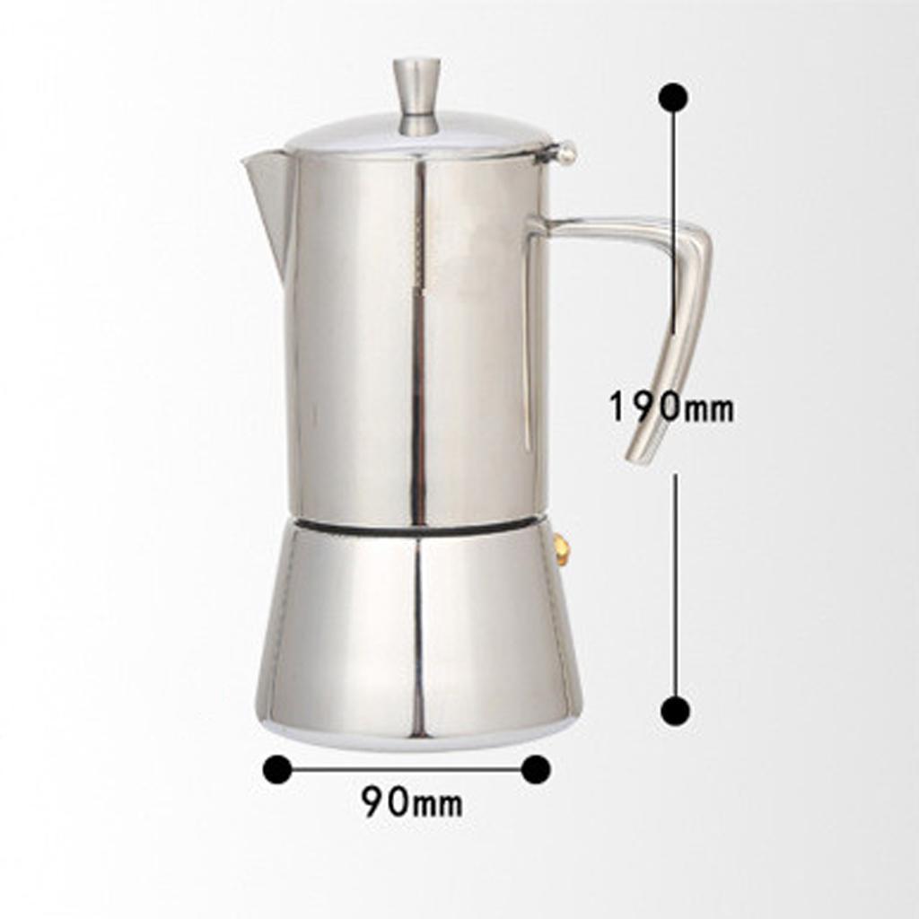 Caffettiera Espresso Moka Express Bollitore Per In Acciaio Inossidabile