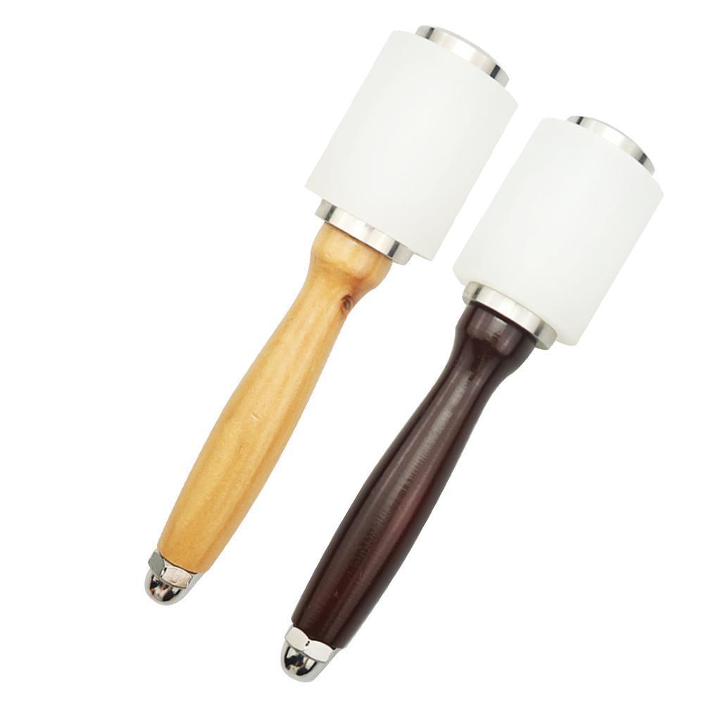 Bricolage cuir travail marteau maillet artisanat anti-dérapant poignée en