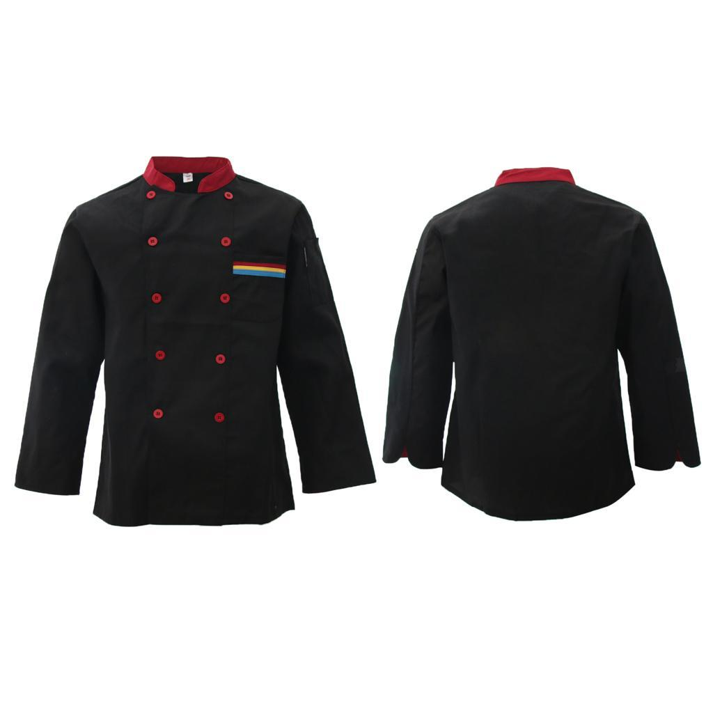 Unisex Chef Jacket Long Sleeve Restaurant Hotel Kichen Chef Uniform Workwear