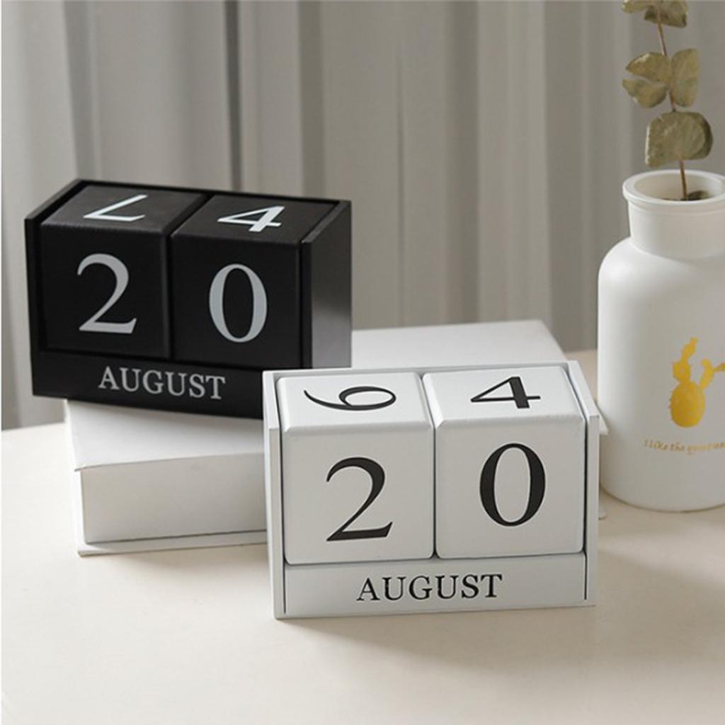 Ewiger Dauerkalender Kalender Bürokalender Holzwürfel