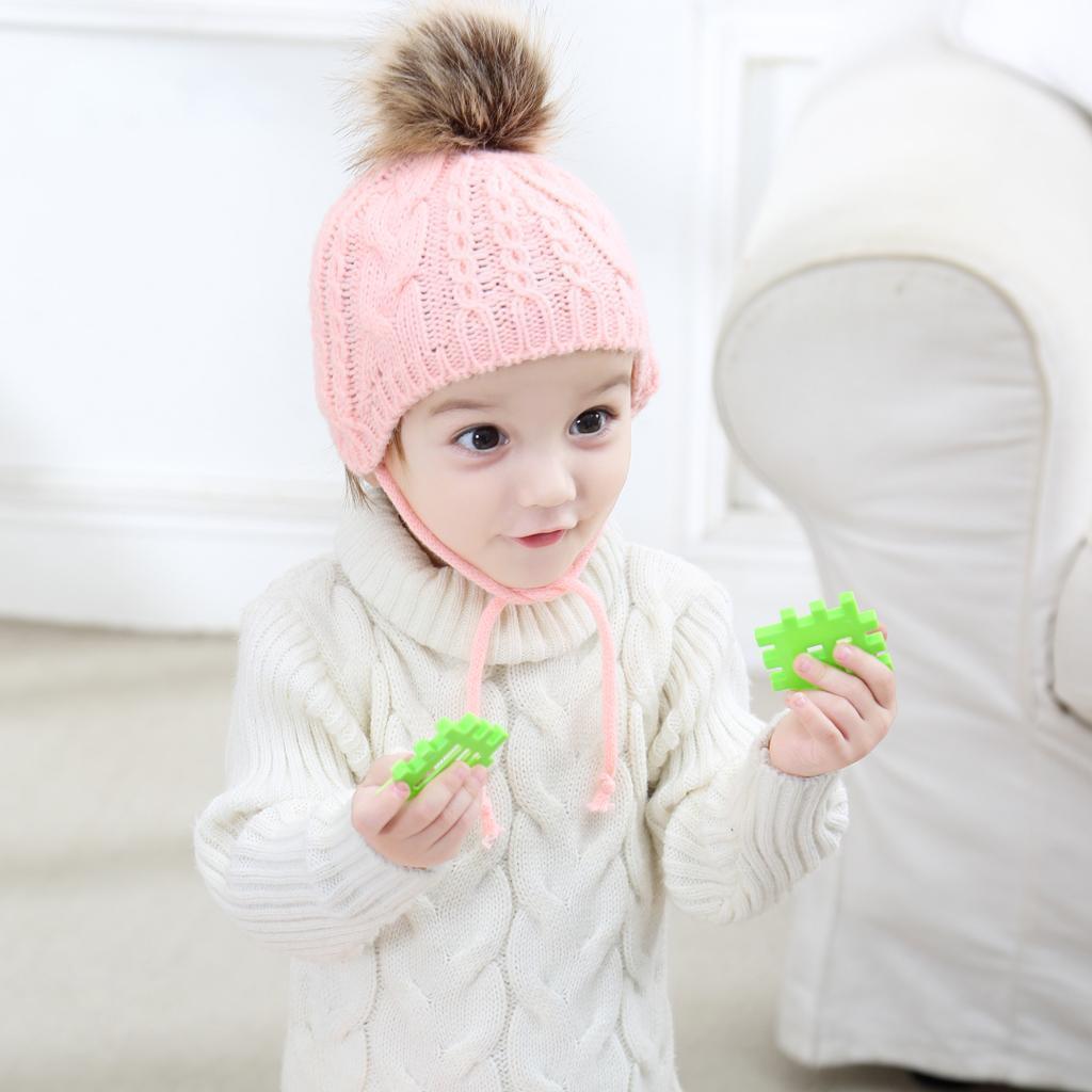 Infant Baby Girl Boy Kids Toddler Knitted Hat Cap Beanie Bonnet Winter Pompom