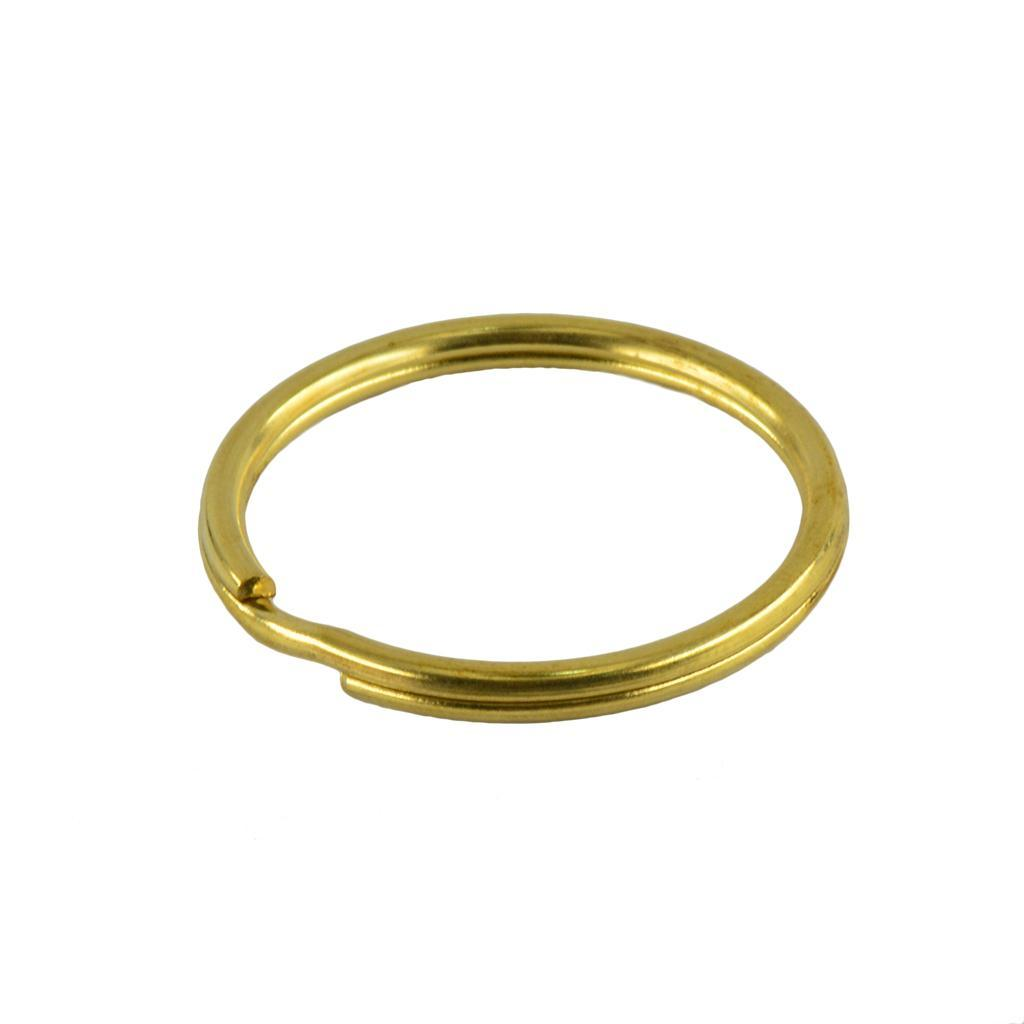 10 Stücke DIY Messing Runden Schlüsselring Schlüsselanhänger Ring 25mm