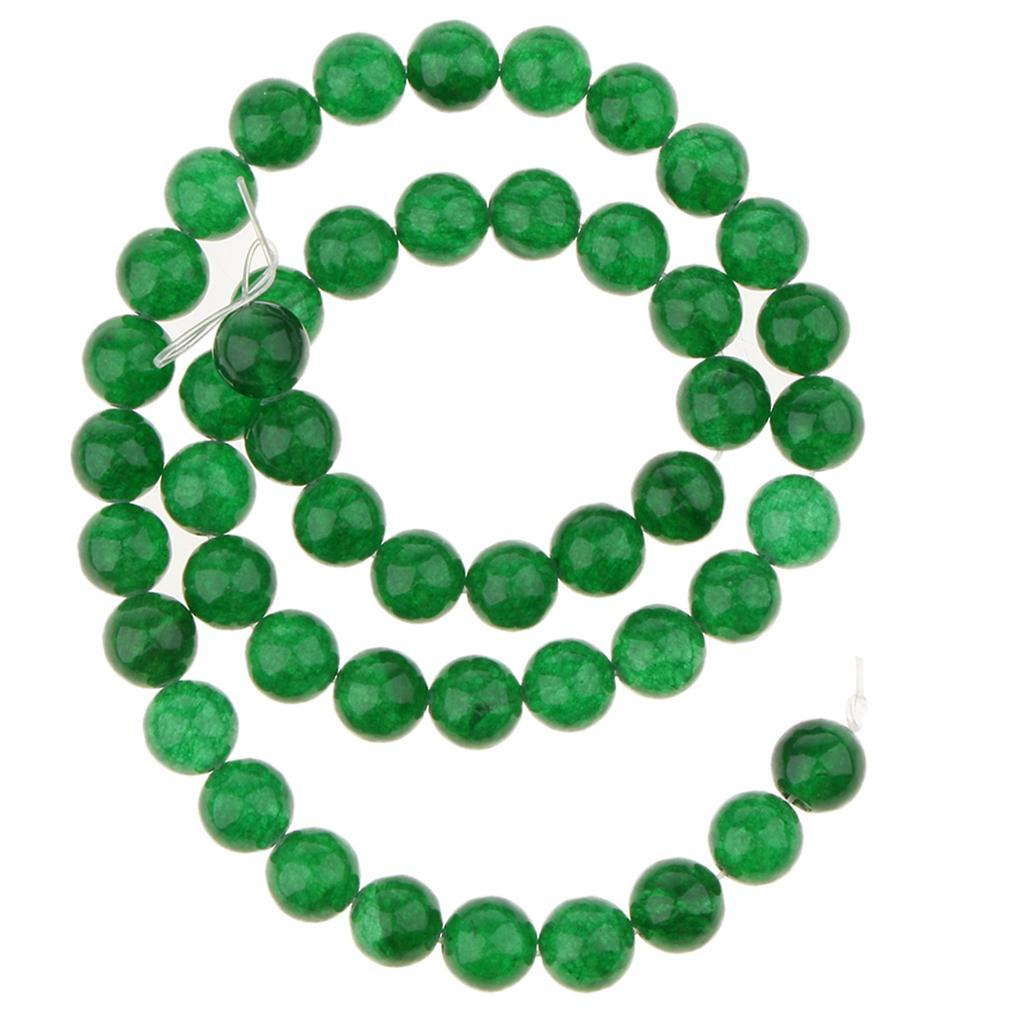 Natural Stone Beads Green Jade Round Loose Beads for DIY Bracelet Necklace