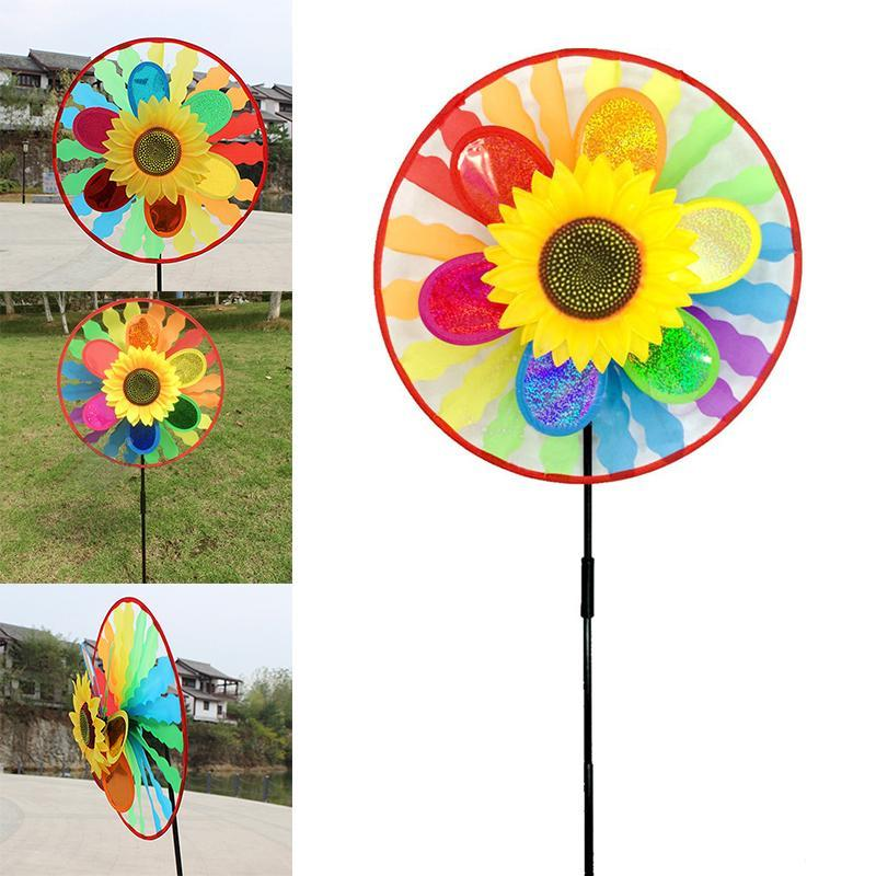 Colorful Windmills Windsock Wind Spinner Outdoor Kids Toy Garden Yard Lawn Decor