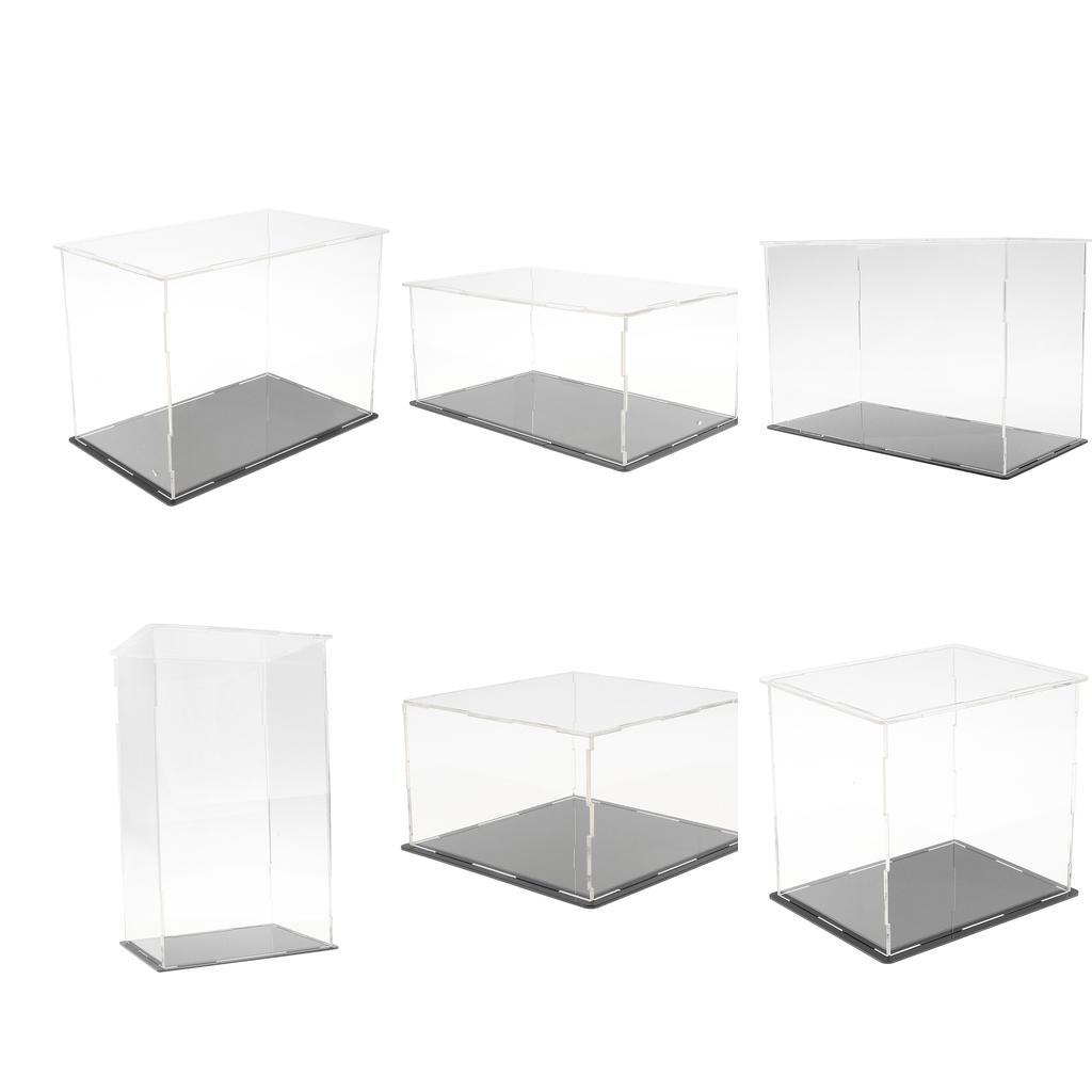Clear Perspex Display Case Acrylic Box Dustproof For Figure Car Model Doll Toys