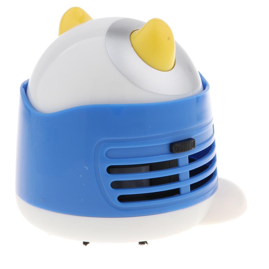 Cute Cartoon Cow Mini Corner Desk Table Dust Vacuum Cleaner Sweeper