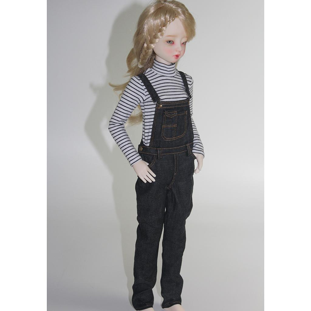 Fashionable Doll Clothes For BJD Doll Suspender Trousers 1:4 Jeans Pants
