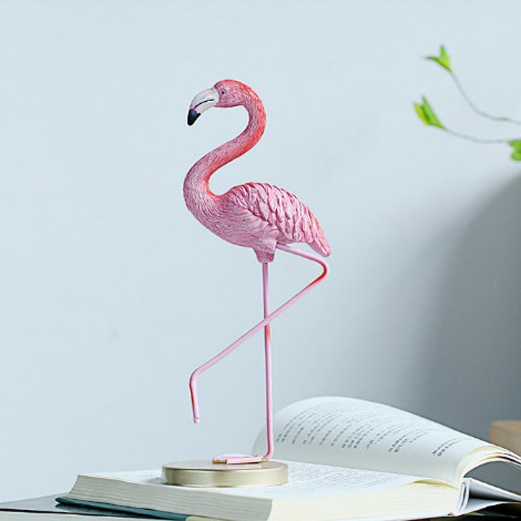 FENICOTTERO rosa resina Ornamenti Birds Chic Ornamento Figurina Decor Natale