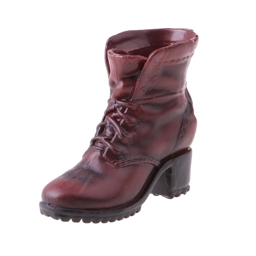 """1//6 Female Combat Booties Shoes Fit 12/"""" Hot Toys Dragon Action Figure Body"""