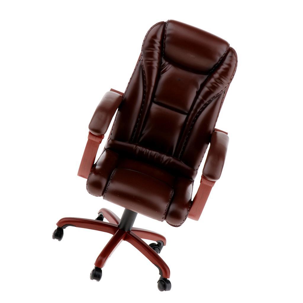 1:6th Bürostuhl Chefsessel Drehstuhl Schreibtischstuhl für Puppenhaus Deko