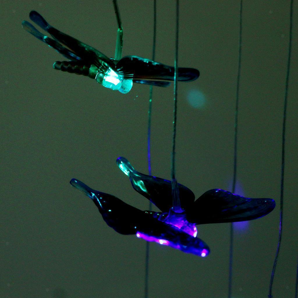 Solarbetriebene Windchime Licht Windlight Solar Sensor automatisch leuchten