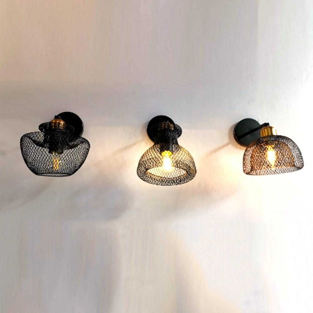 Industrial Wire Cage Ceiling Pendant Light Shade Mesh Wire Lampshade