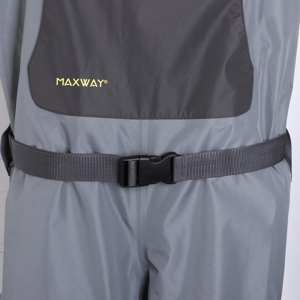 Breathable Chest Waders Fishing Wader /& Stocking Foot Boots Waterproof Pants