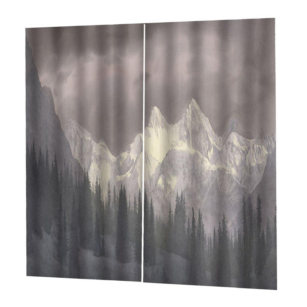 Digital Print Curtain Bedroom Kids Room Darkening Window 2Panels Drapes