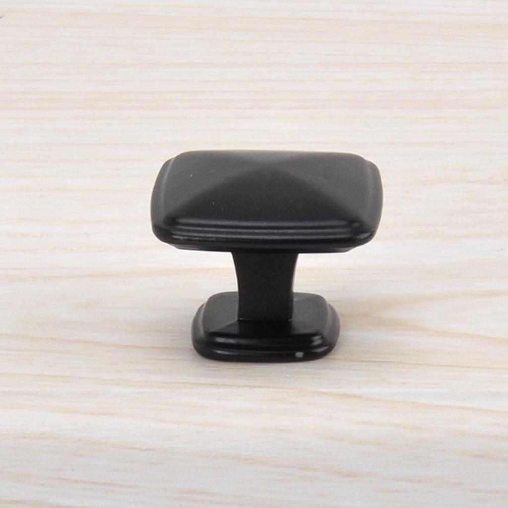 Modern Metal Black Cabinet Handle Pull Wood Furniture Cupboard Door Knobs