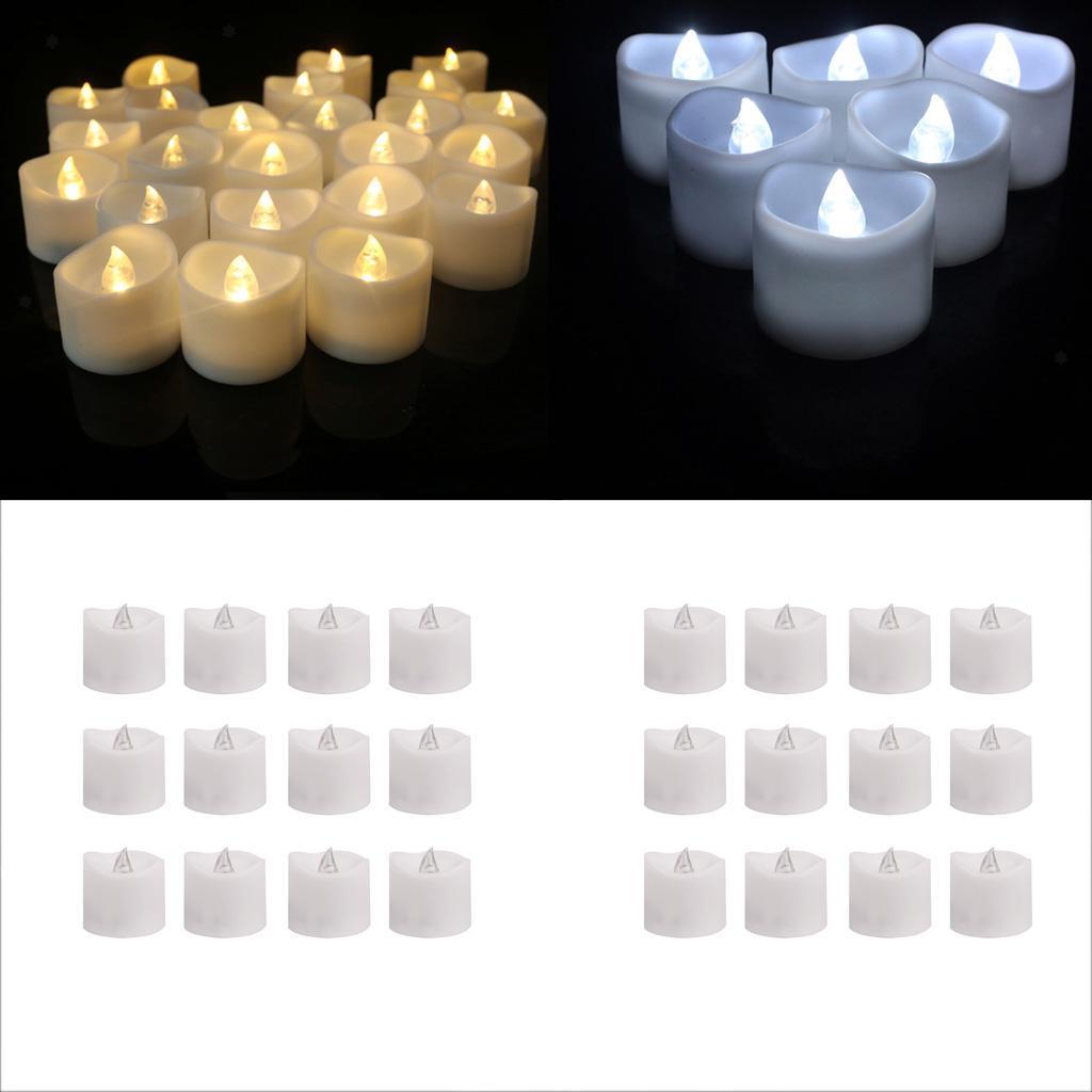 Kerzen Teelichter Weihnachtskerze Kerzenlichter 12x LED Flammenlose Kerzen
