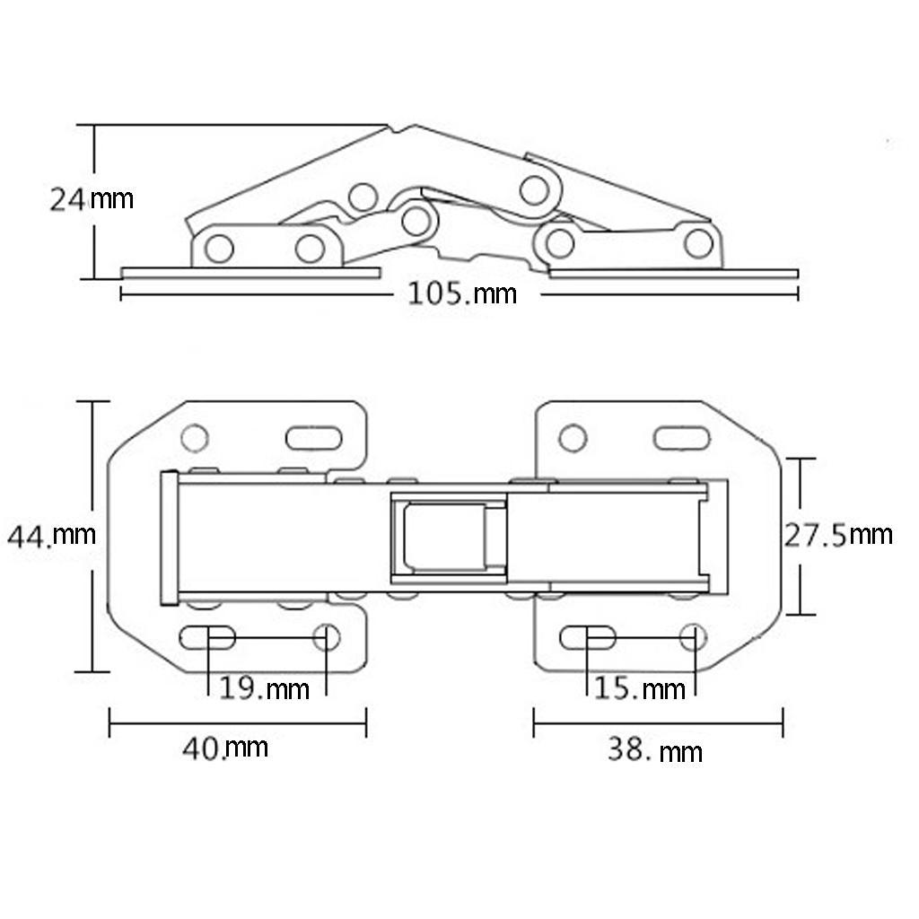 Stainless steel buffer hinge hydraulic hinges Soft Close Furniture Hardware
