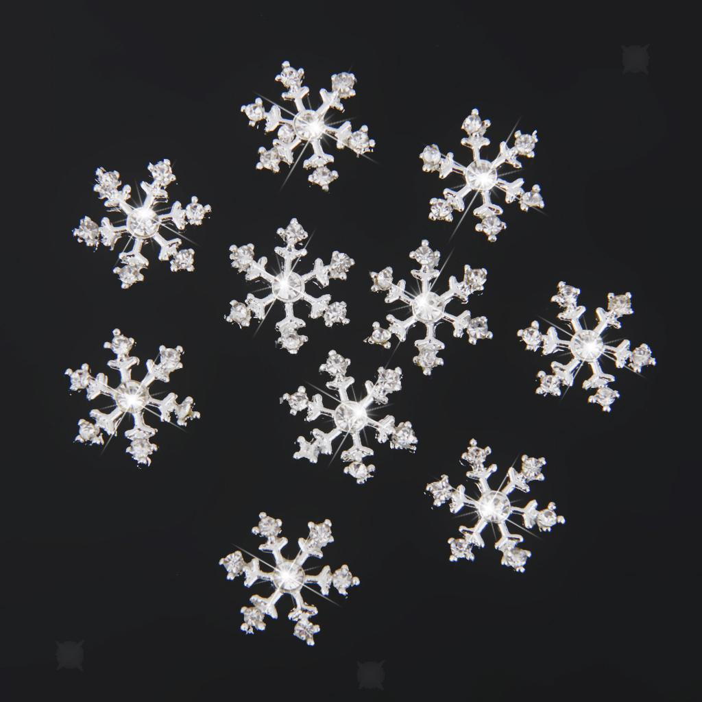 2x10pcs Crystal Snowflake Rhinestone Wedding Invitation Embellishment Button
