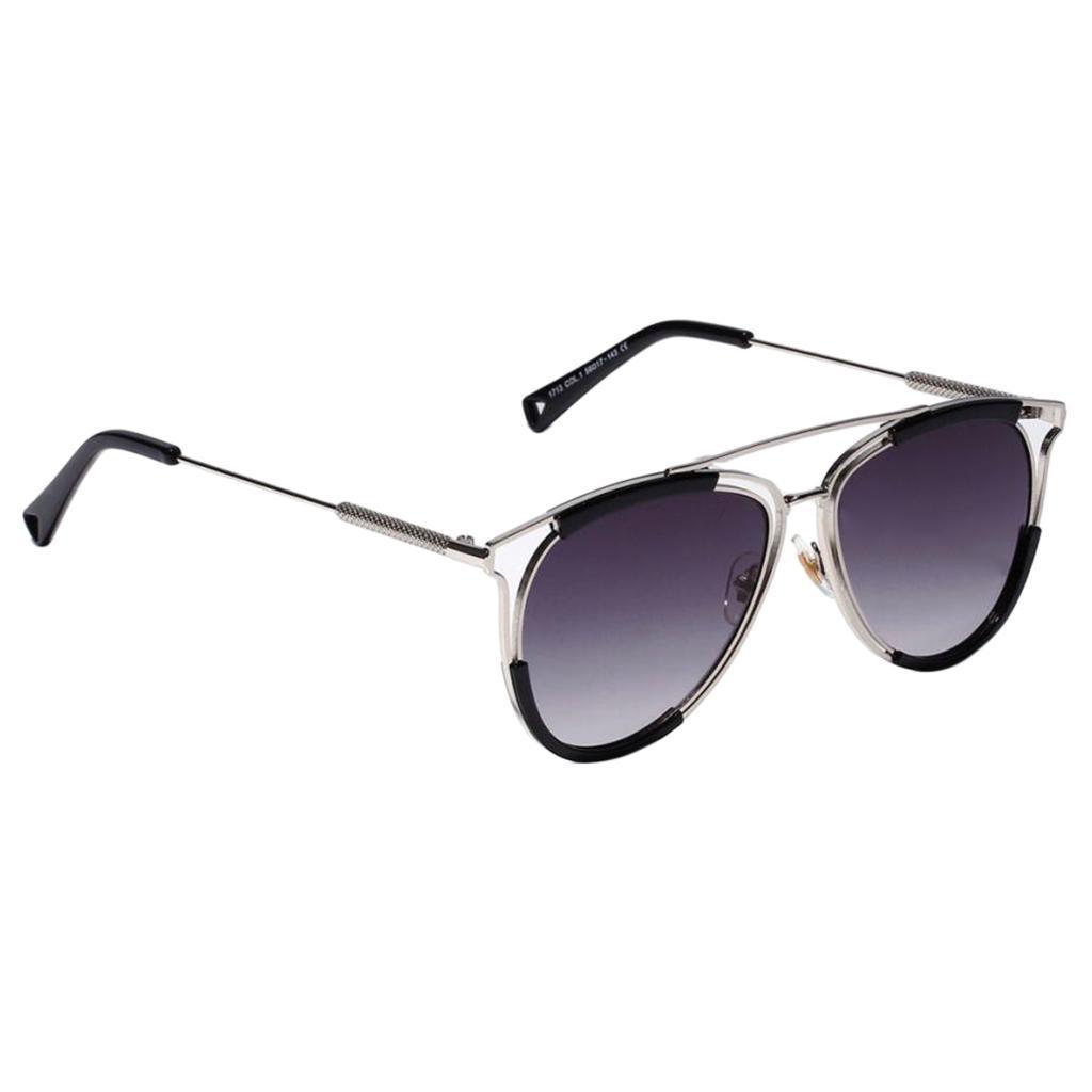 Classic Sunglasses Women Men Fashion Round Metal Double Beam Glasses