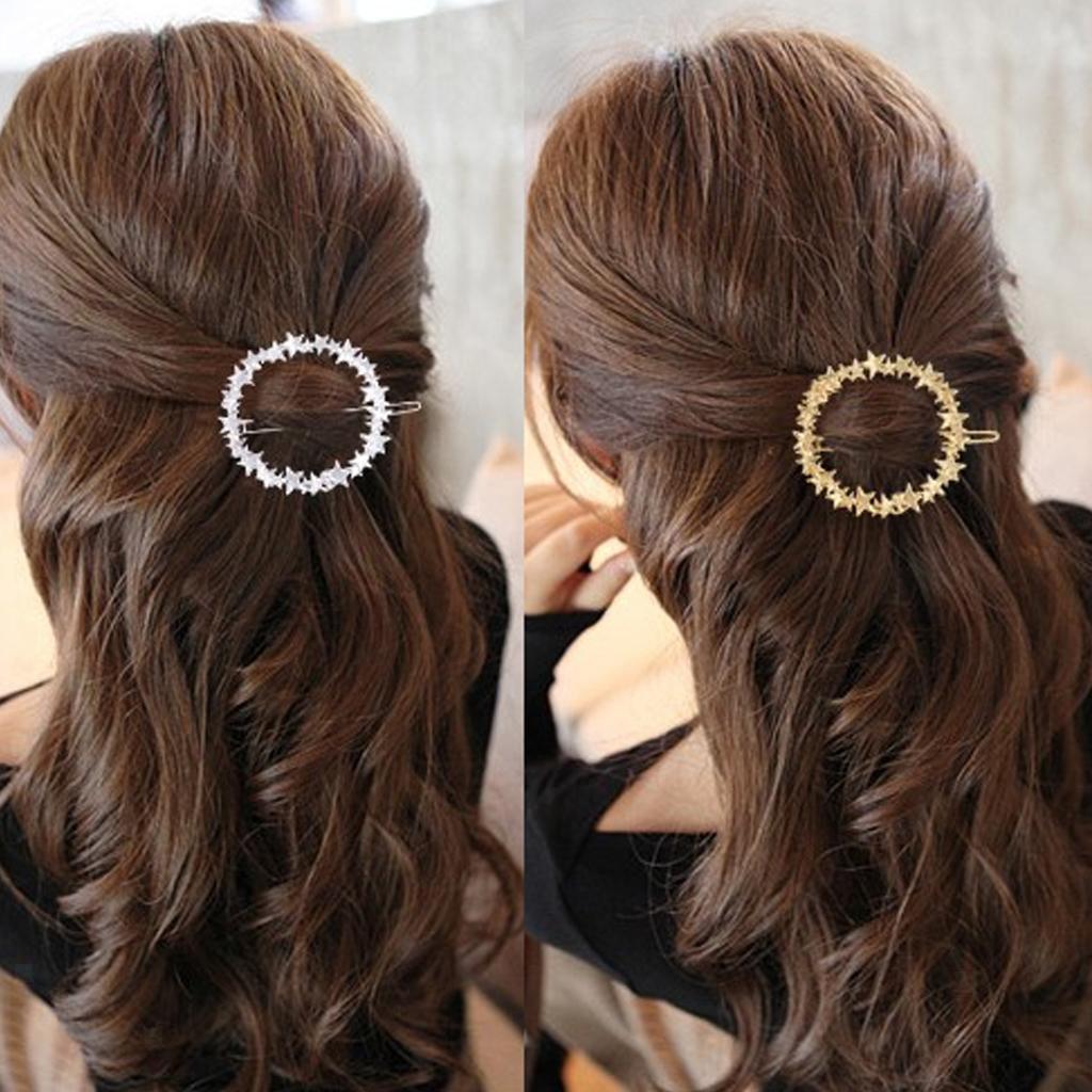 Star Barrette Shawl Pin Hair Accessories Hairpin Circle Hair Slide Holder