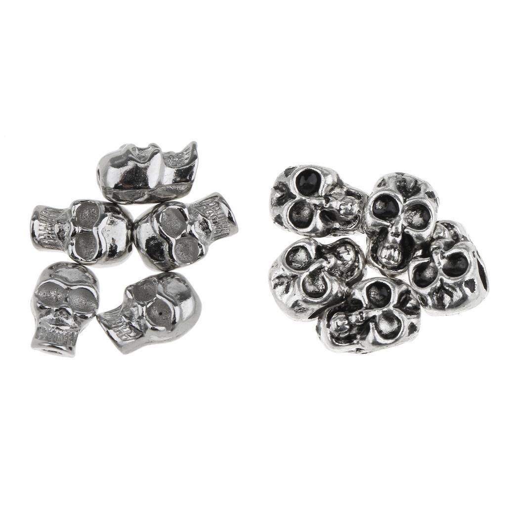 50 Stücke Schädel form Vintage Perle Schmuck Herstellung Zubehör DIY Armband