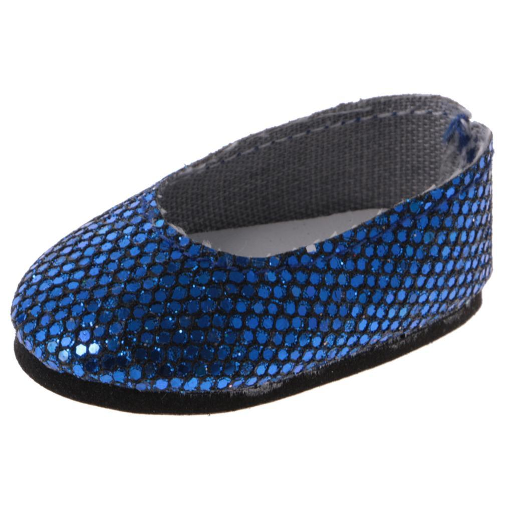 Fashion Party Sequins Shoes for 14/'/' American Doll Wellie Wisher Doll Dress Up