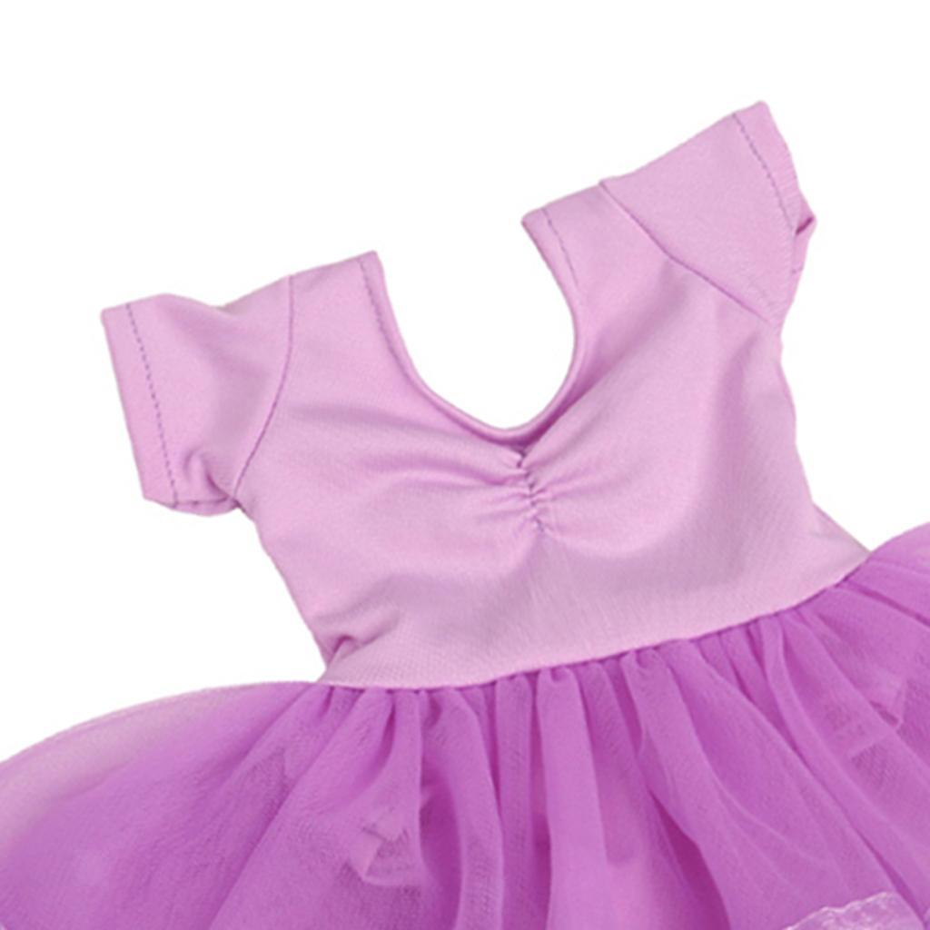18in Doll Clothes Doll Accs Dress Ballet Skirt Cute V-neck Lace Ballet Skirt