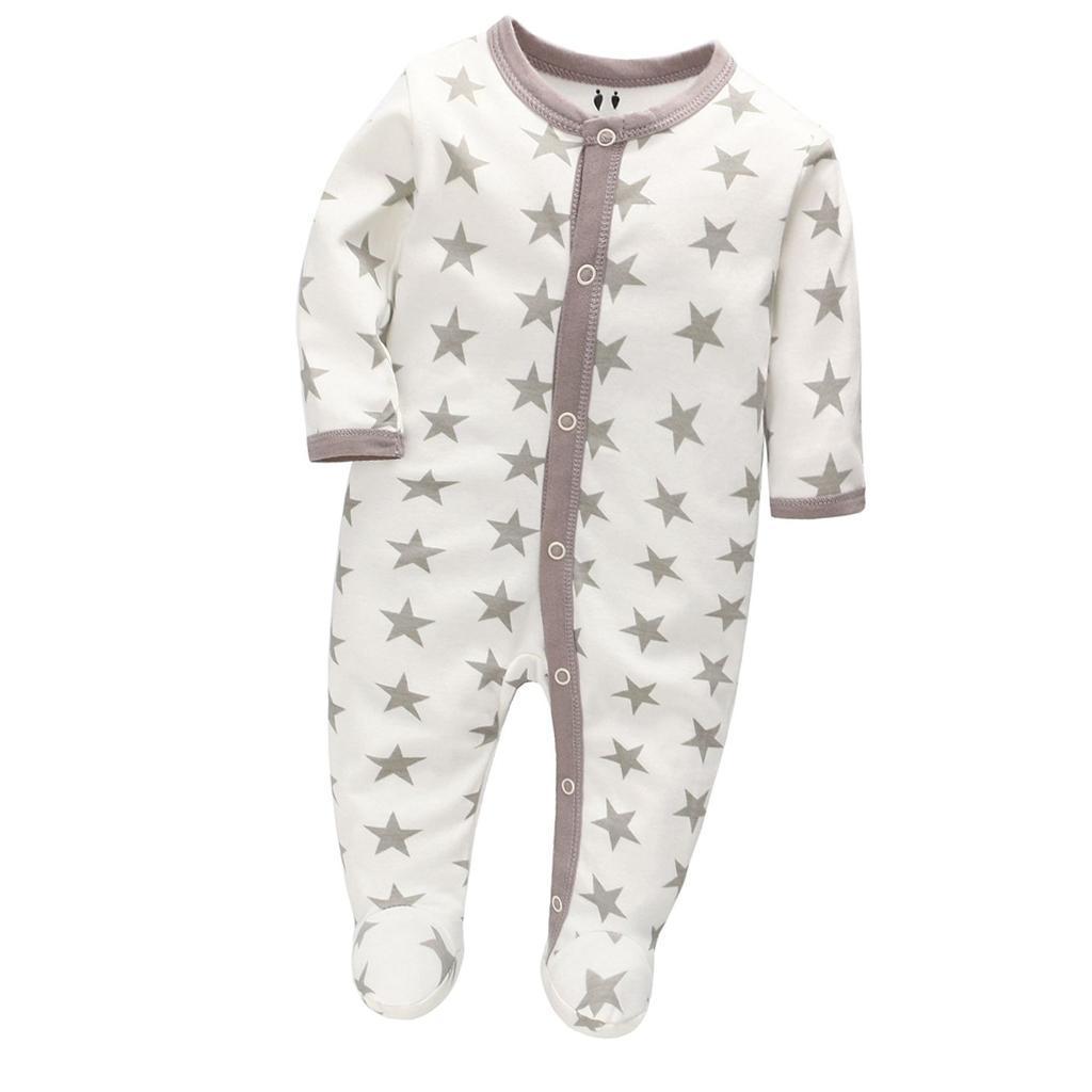 Infant Romper Jumpsuit Baby Bodysuit One-Piece Clothes Star//Deer//Pattern