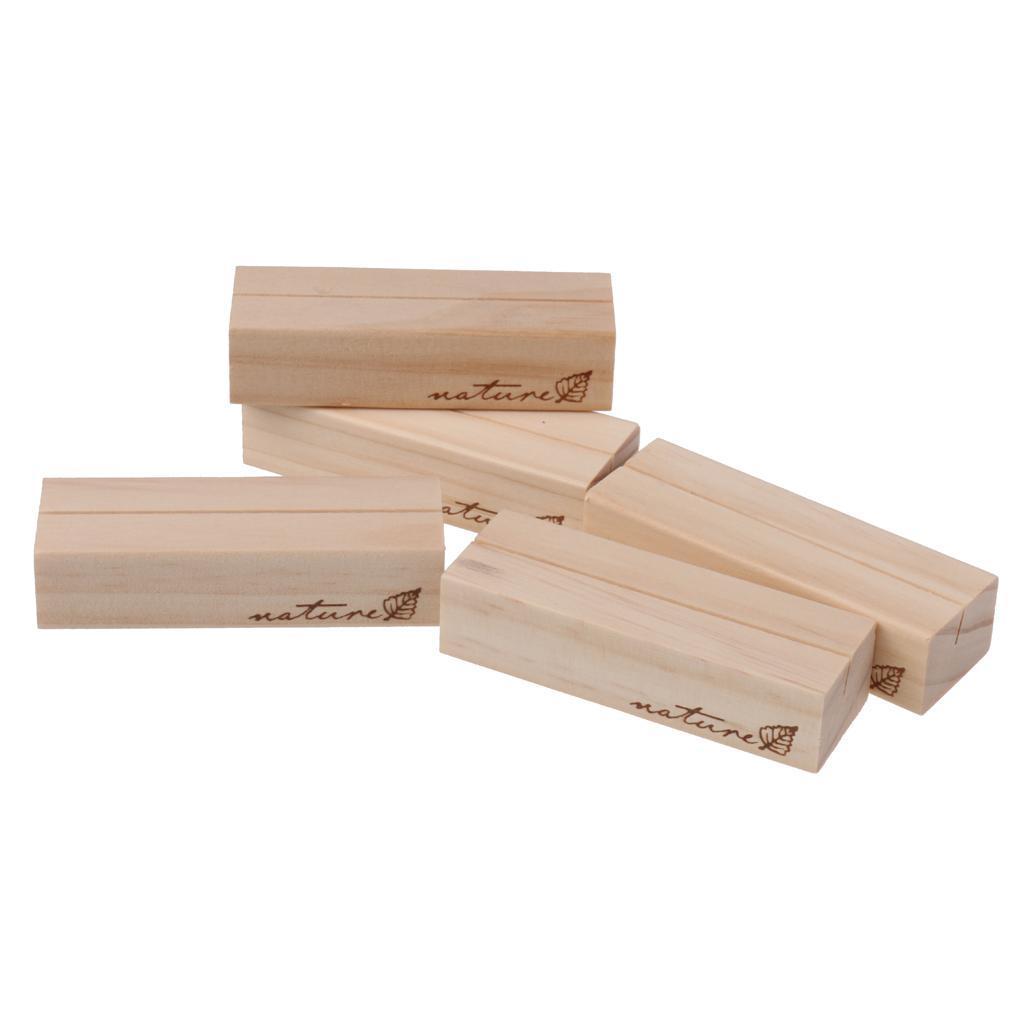 5 Stück Holz Platz Kartenhalter Hochzeit Empfang Party Gefälligkeiten