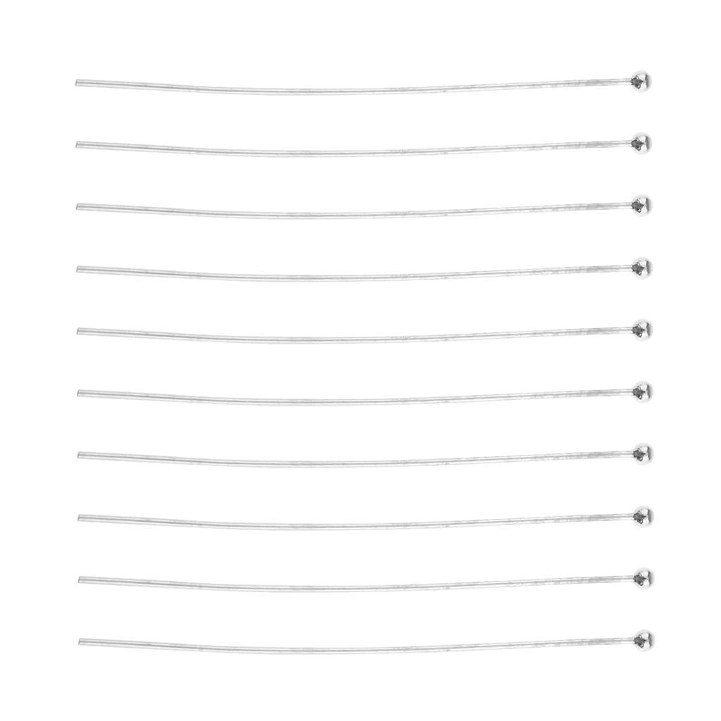 10pcs 925 Sterling Splitter Kugelkopf Stifte Entdeckungen für