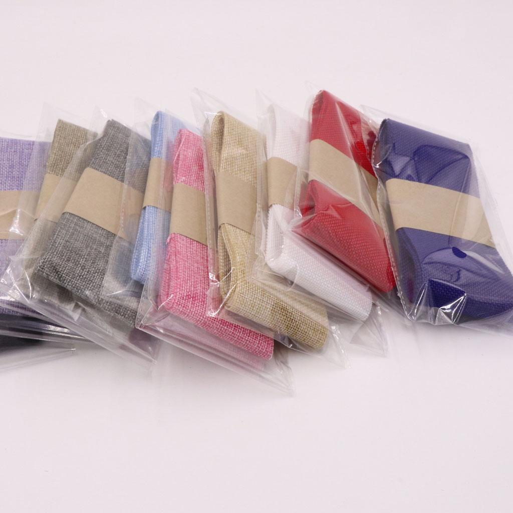 2 Meters Jute Fabric Burlap Ribbon Hessian Linen Ribbon Trim for Wedding Decor