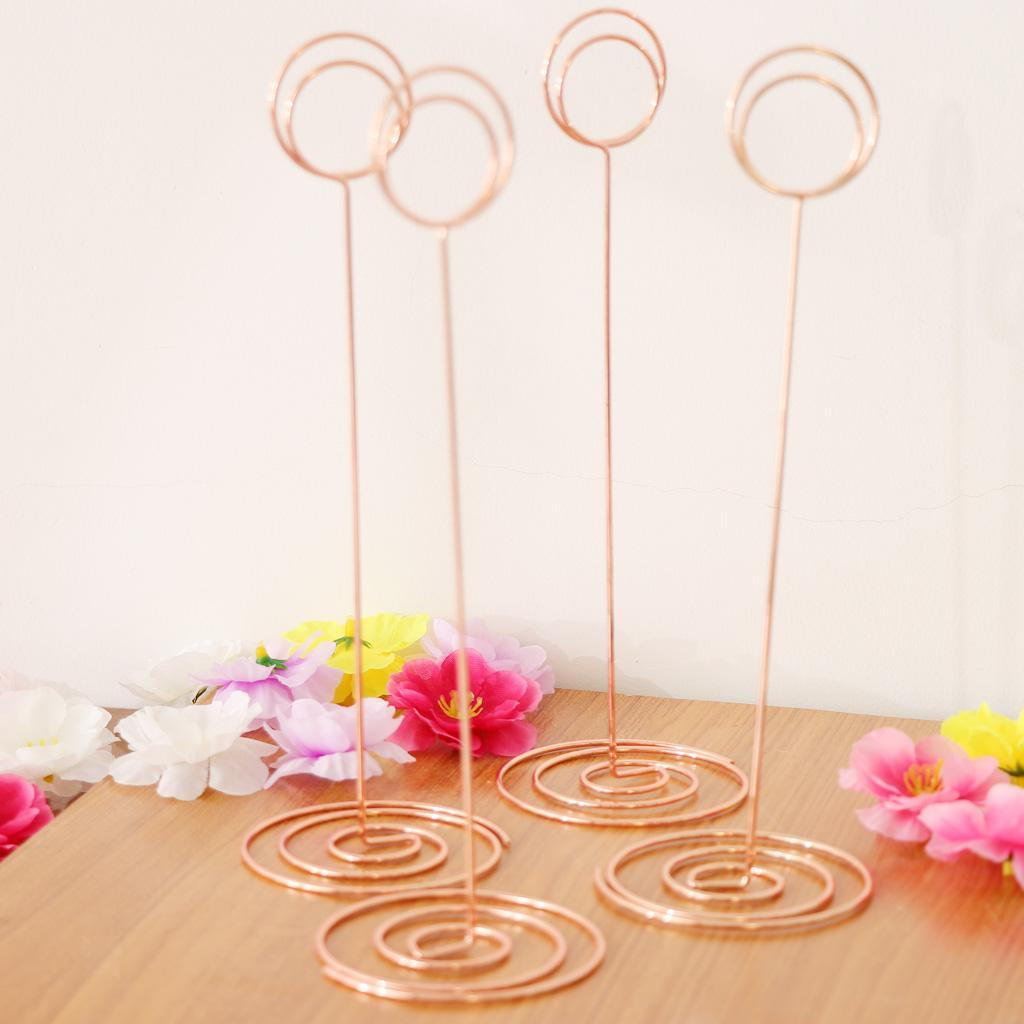 6Pcs 22cm Round Wire DIY Clip Cards Notes Pictures Photoes Memu Holder Clips