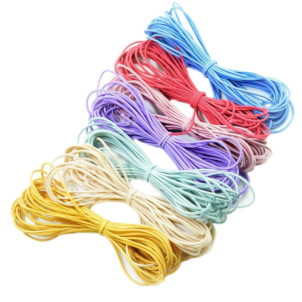 7//8Pcs Long Straight High Elastic Rubber Band Hair String DIY Hair Rope 2mm