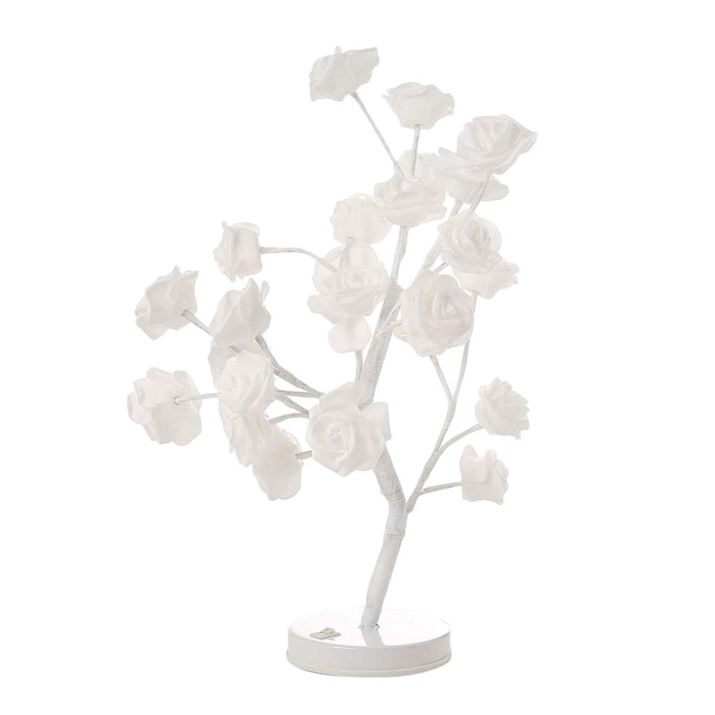 LED Lichterbaum Rosenbaum Lampe Nachttischlampe Tischleuchte Stimmungsleuchte