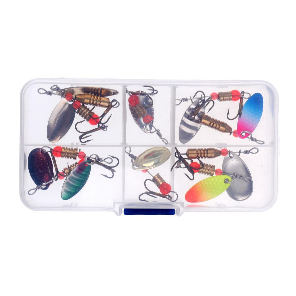 10Pcs//30Pcs Assorted Spoons Fishing Lures Set Metal Hooks Spinner Baits Tackle