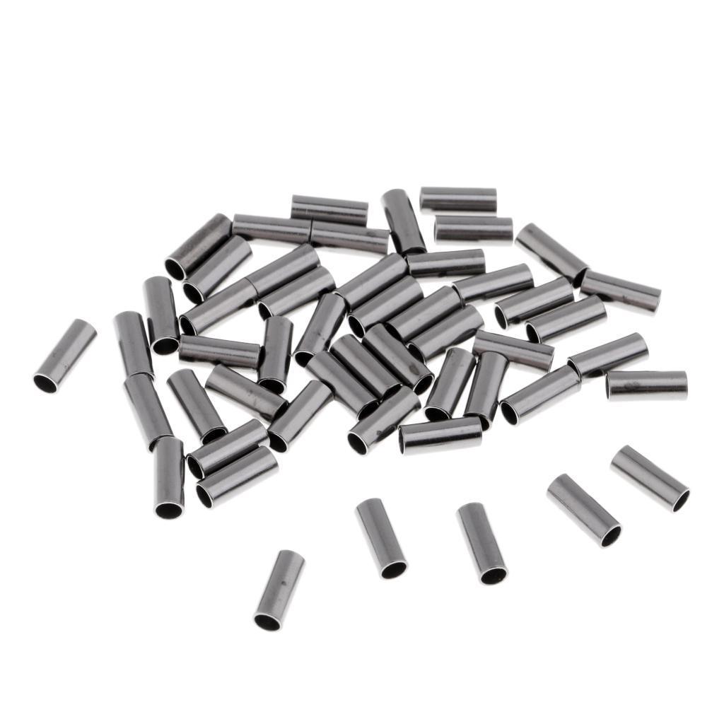 50x simple connecteur de tube de cuivre de manchons à sertir de pêche 7