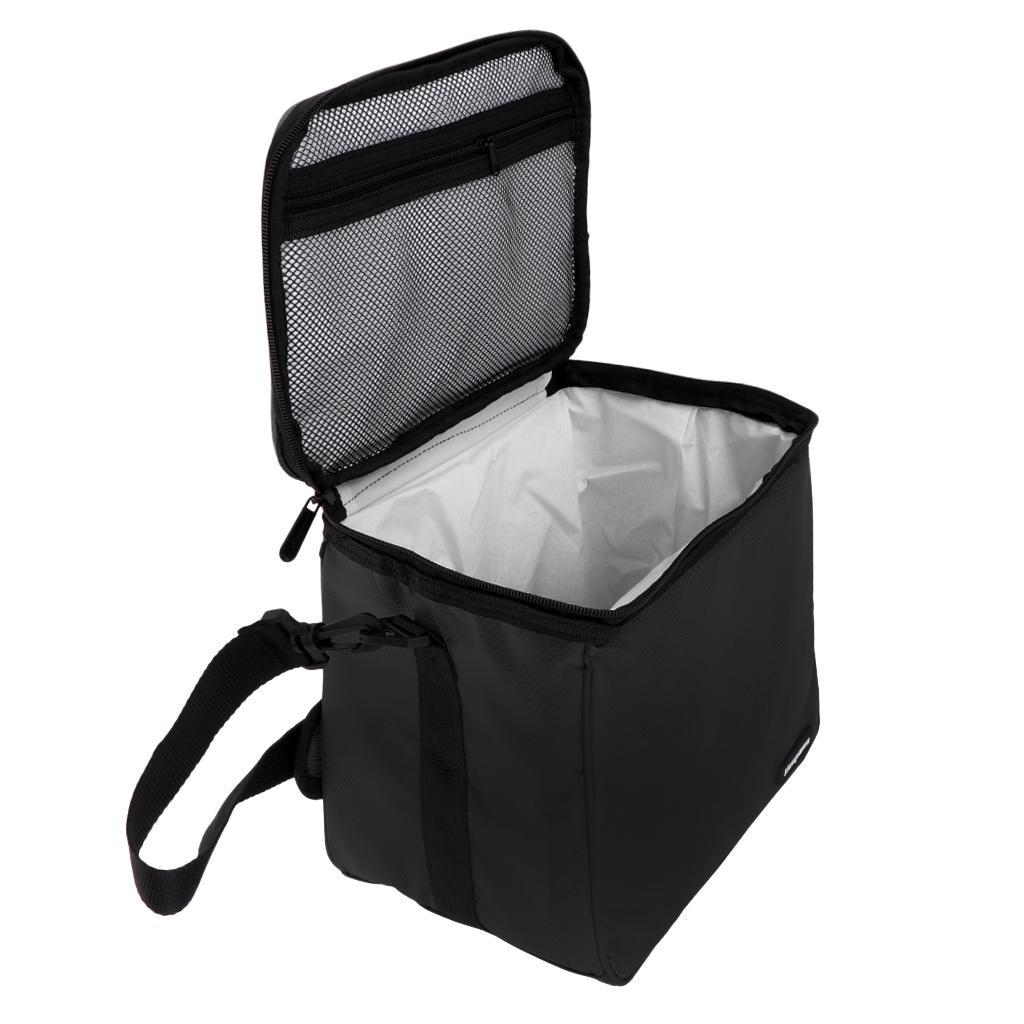Zip Insulated Cooler Bag Outdoor Picnic Drink Wine Cooling Lunch Bag Carrier