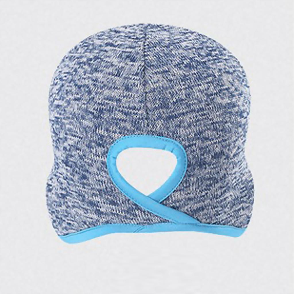 Women Skull Cap Helmet Liner Winter Thermal Beanie with Ear Cover Fleece Hat