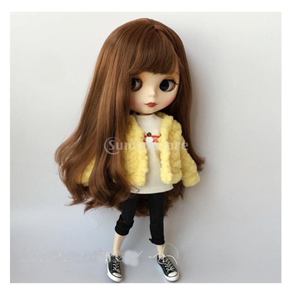 Trendy 1//6 Short Plush Coat for Blythe Doll Winter Clothes Dress Up Decor