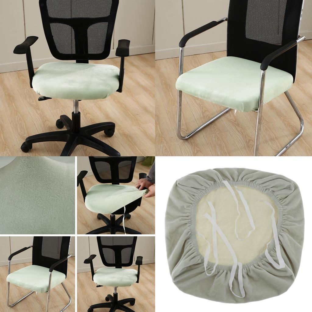 Office Computer Chair Seat Covers Velvet Desk Chair Seat Cushion Protectors