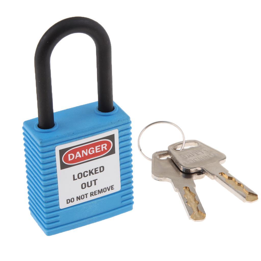 Nylon Shackle Safety Lockout Padlock Keyed Different,Standard 6-pin cylinder