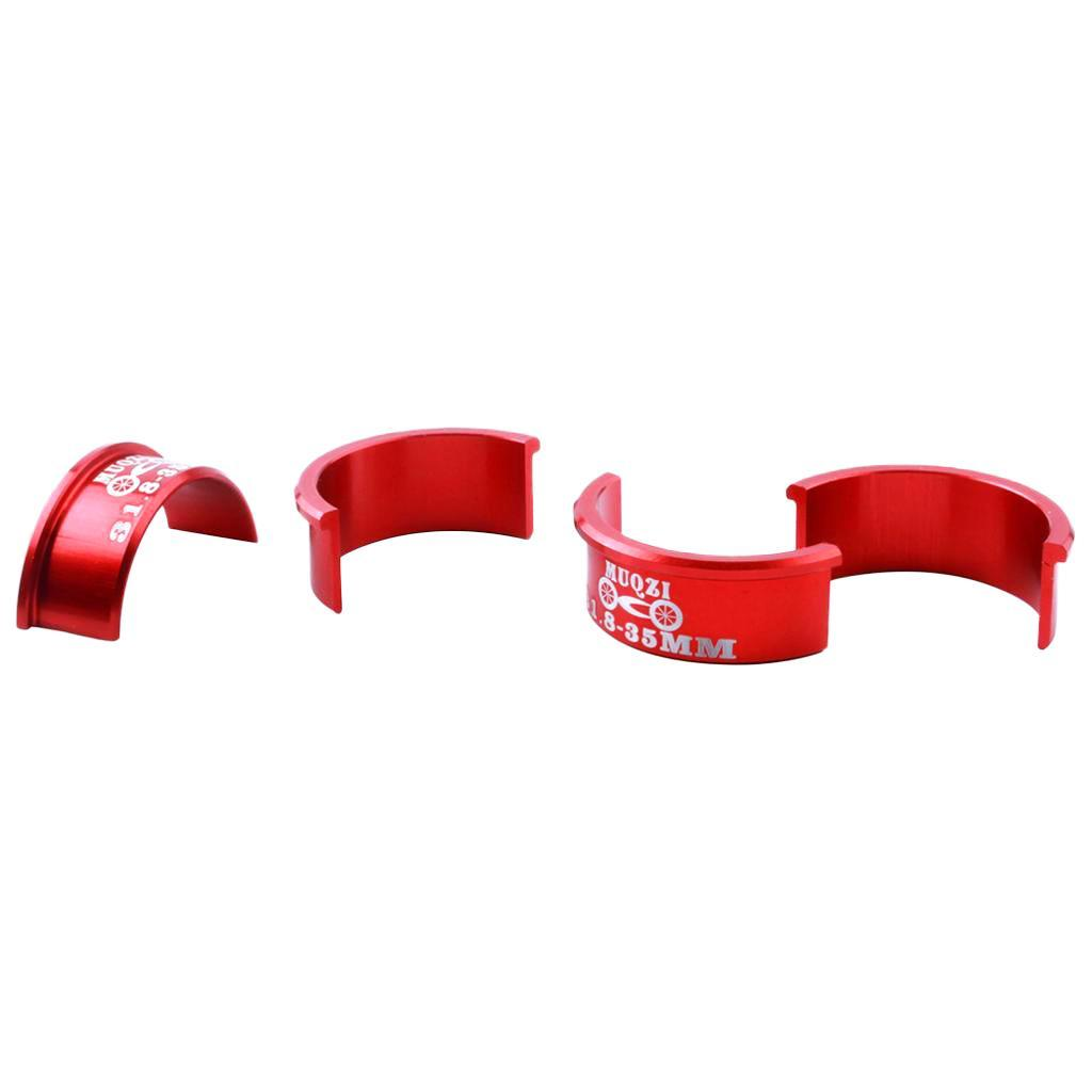 4Pcs 31.8mm to 35mm Bike Handlebar Alloy Shim Part Replacement Accessory
