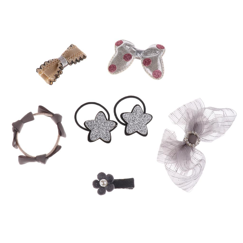 7 Teile satz Haarnadel Baby Mädchen Haarspange Bogen Blume Haar Seil