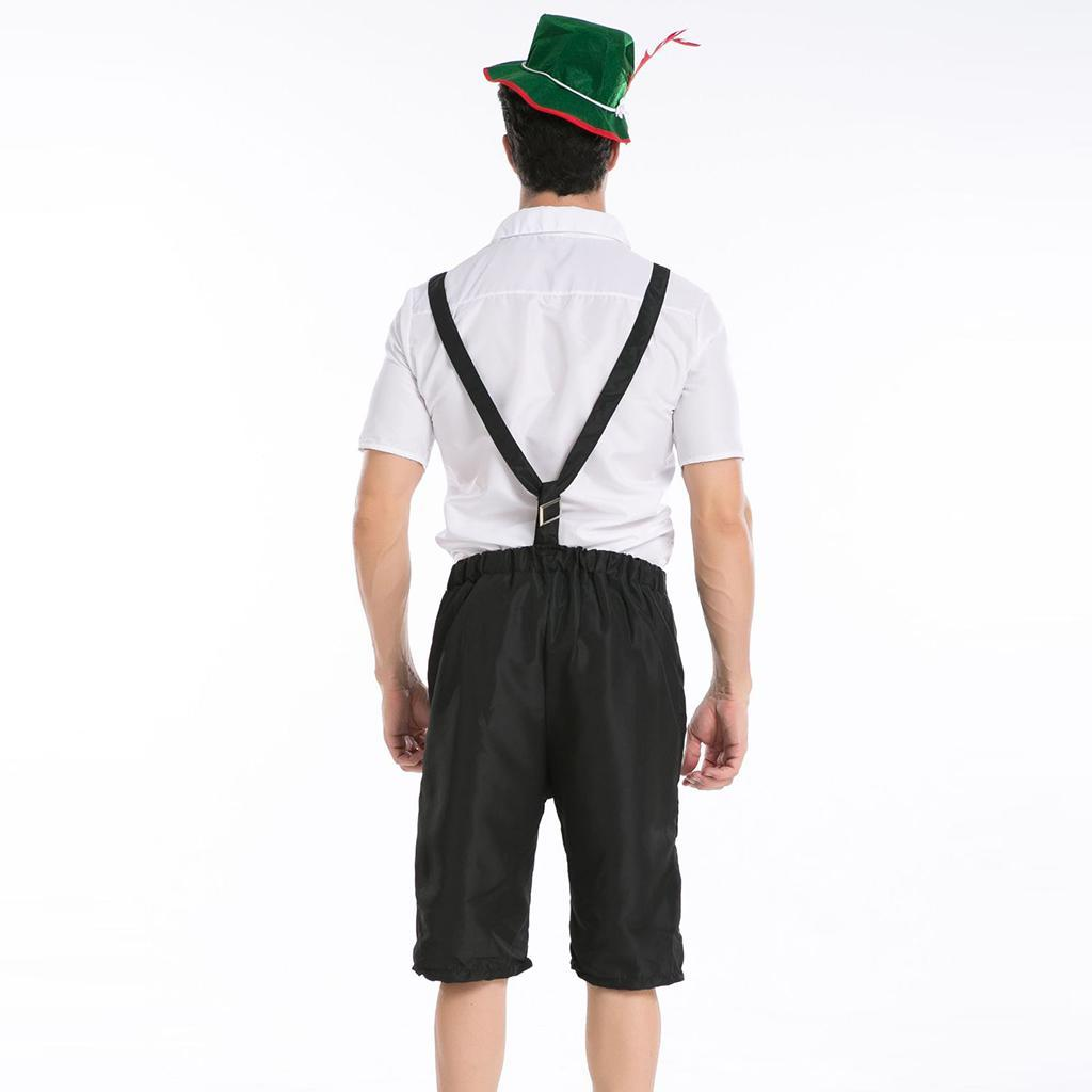 Oktoberfest Adults Men German Bavarian Lederhosen Beer Guy Costume Dress up