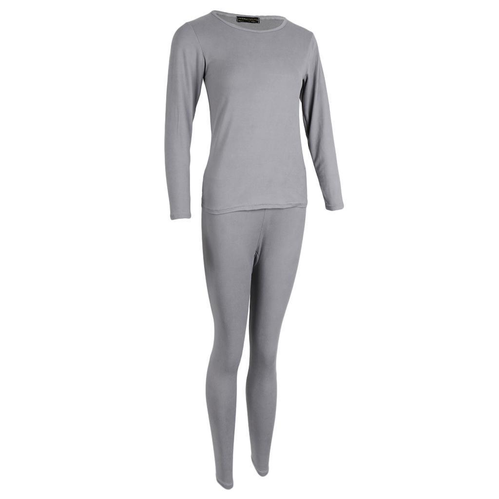 Conjunto de pijama largo Johns de ropa interior térmica de invierno unisex