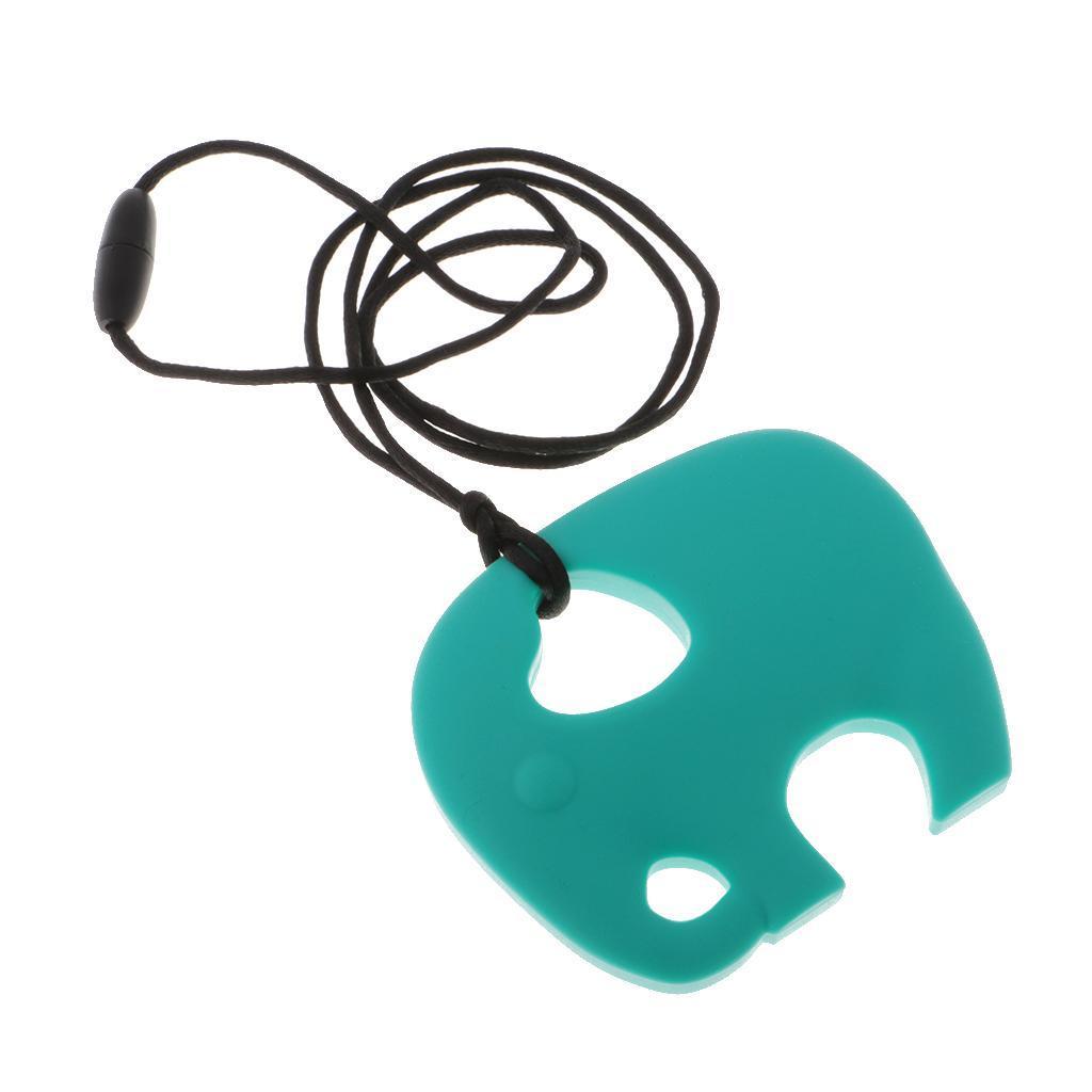 Elephant Food-Grade Baby Silicone Teething Necklace Teether Nursing Pendant