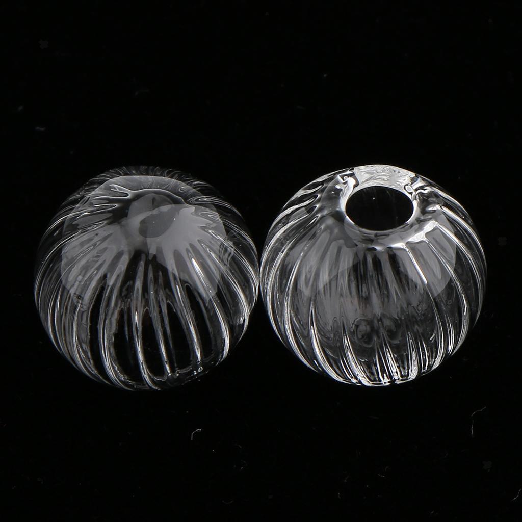 10Pcs Pumpkin Mini Glass Ball Cap Jewelry Wish Bottle Charm Pendant DIY Finding