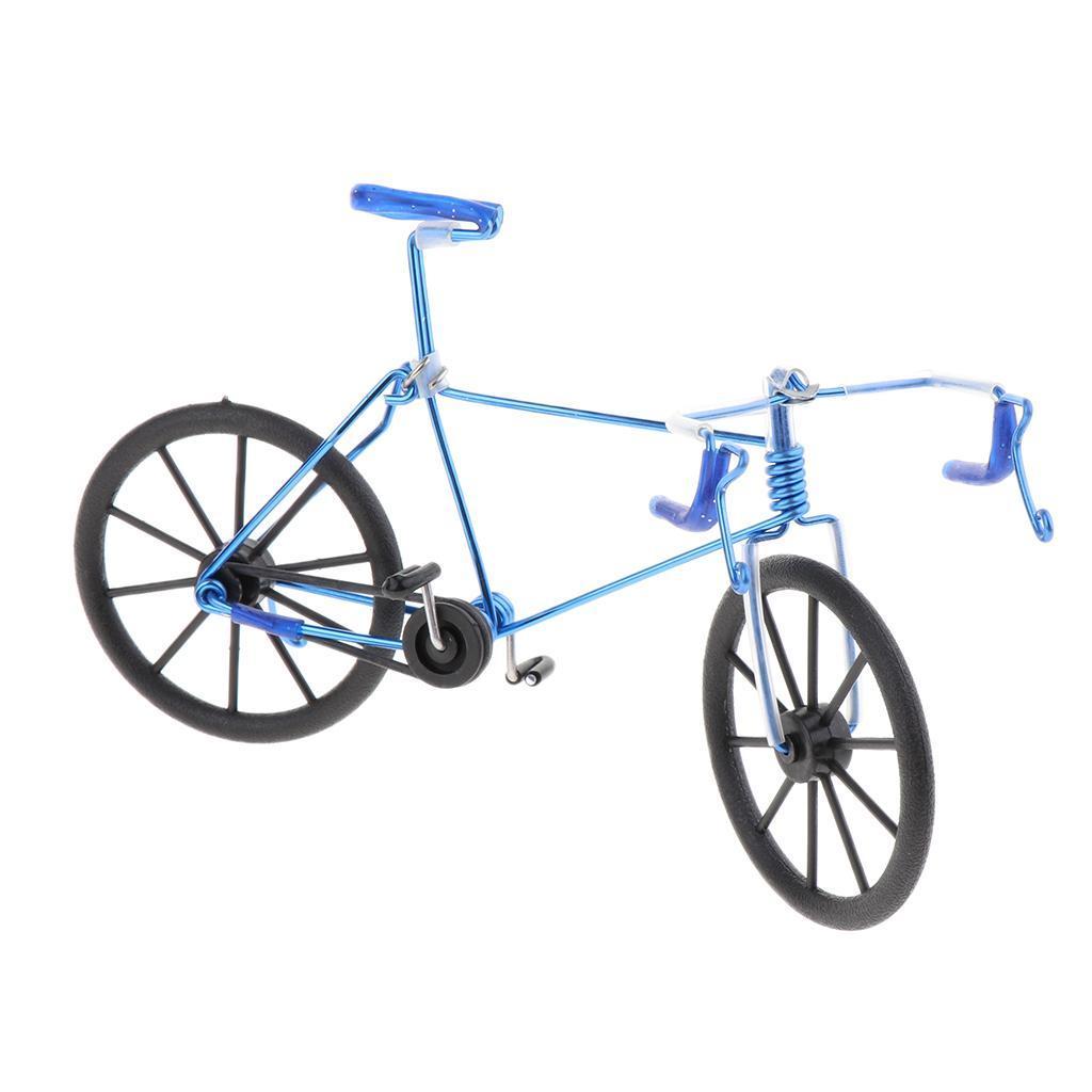 Handmade Racing Bike Ornament Art Decor Aluminum Alloy Bicycle Model 1//10