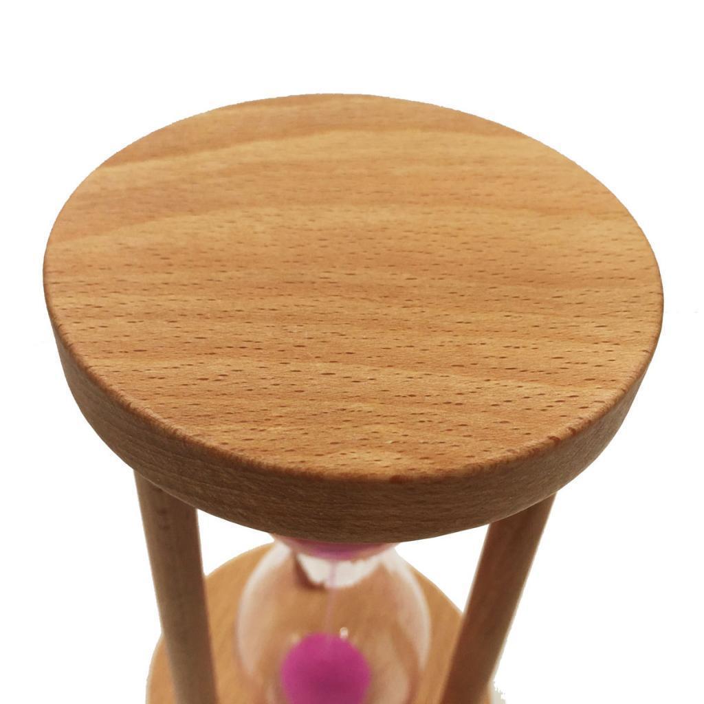 Sablier de minuterie de sable de cadre rond en bois pour cadeau Home Decor